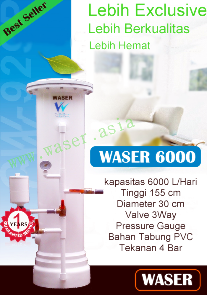 Harga Filter Air Terbaik Waser 6000