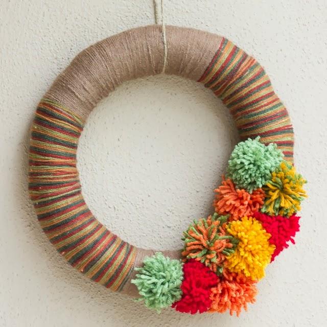 DIY Night: Pom-Pom Yarn Wreath | Design Improvised