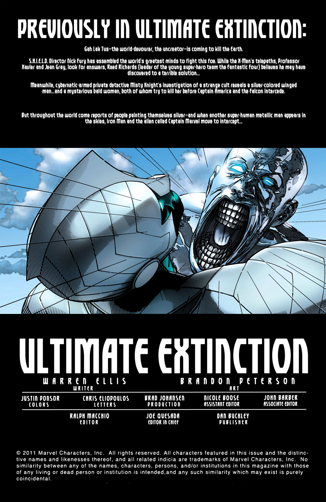 Read online Ultimate Extinction comic -  Issue #4 - 2