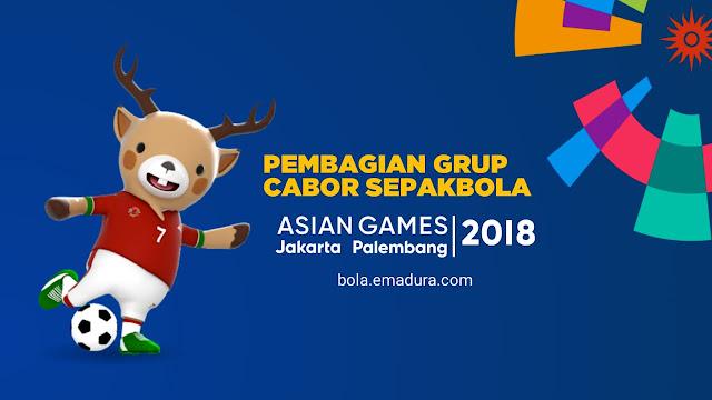 Gambar Pembagian grup cabor sepakbola asian games 2018