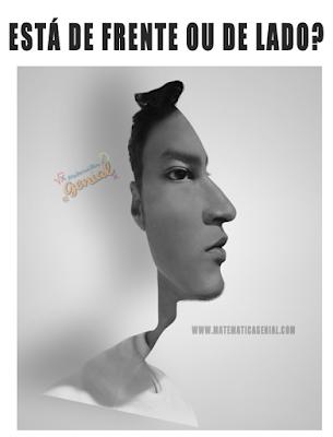 Teste de visão - a pessoa está de frente ou de lado?