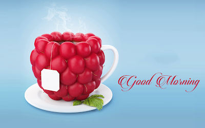 Good Morning Wishes With Tea HD Wallpaper
