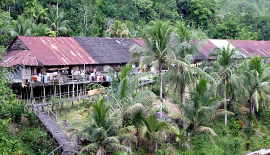 rumah panjang traditional