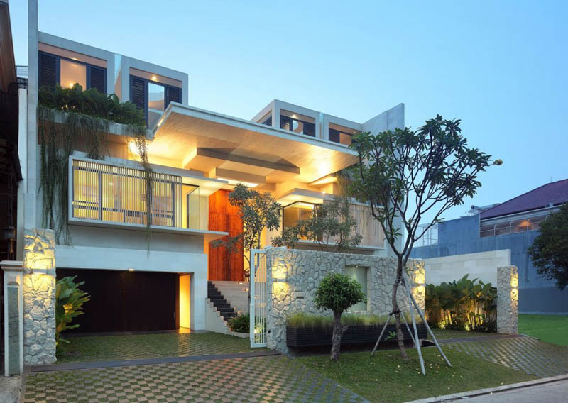 New home designs latest indonesia modern homes designs for Latest modern home designs