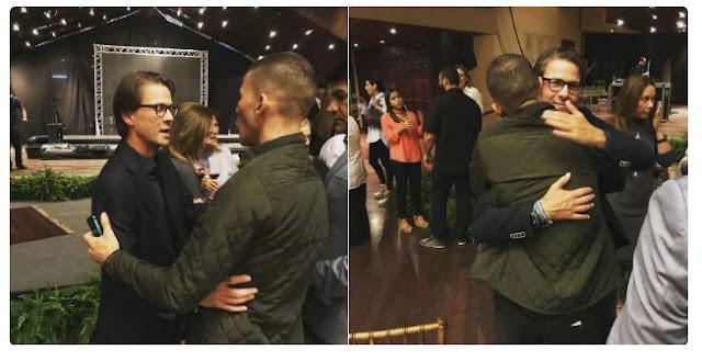 Gilber Caro y Lorenzo Mendoza se encuentran en una misa