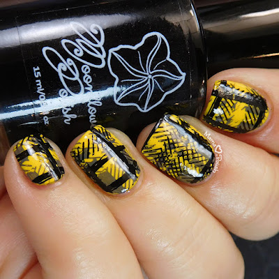 Hufflepuff-Pride-Nail-Art-Moonflower-Polish-Noche