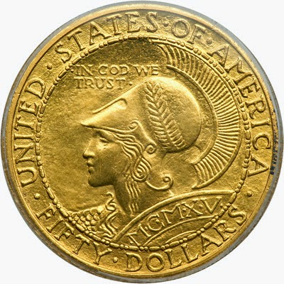 Panama Pacific Exposition Fifty Dollar Gold Coin