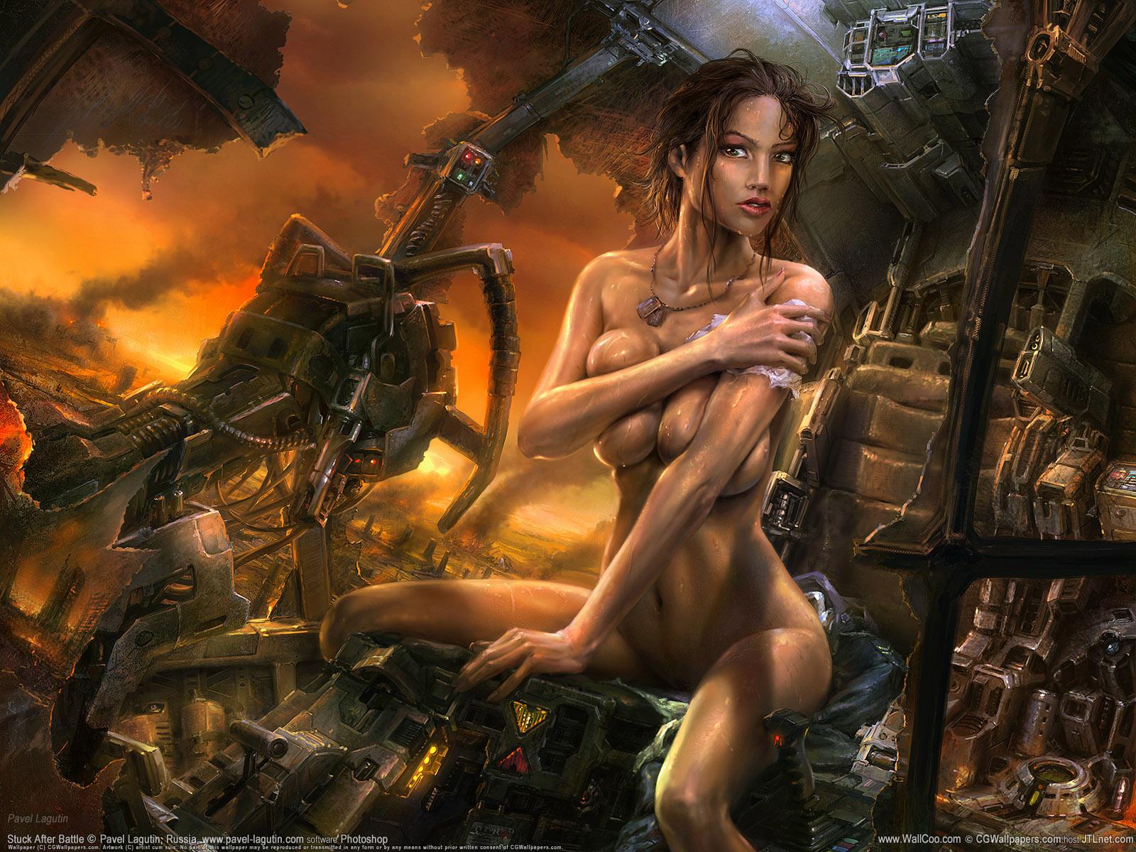 Fantasy Female Porn - Sexy nude fantasy art.