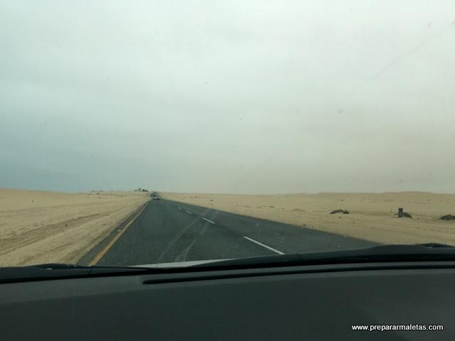 viajar en coche por Nambia, las carreteras