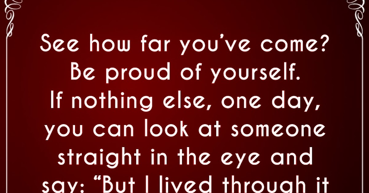 Be Proud Of Yourself Inspirational Quotes