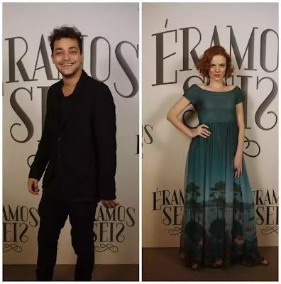 Eduardo Sterblitch e Maria Eduarda de Carvalho