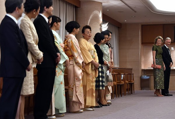 Japanese Crown Prince Naruhito, Japanese Crown Princess Masako, Fumihito, Prince Akishino, Sayako, Princess Nori,