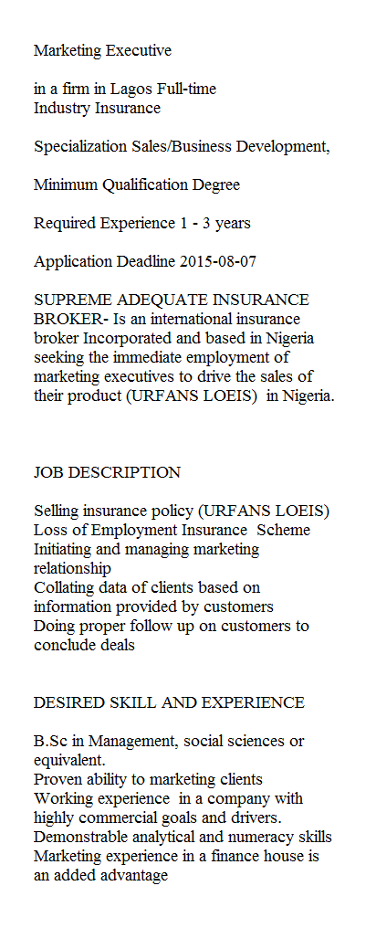 Jobs in Nigeria: www.checklistmag.com