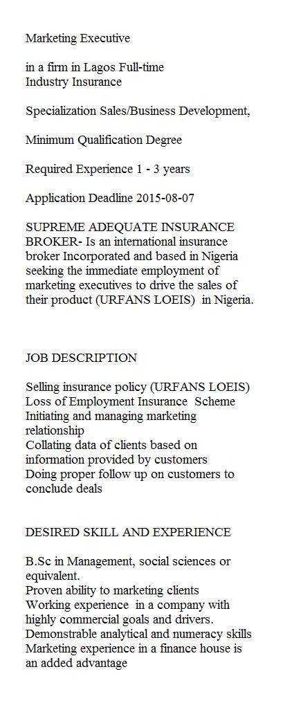 Jobs in Nigeria: www.checklistmag.com