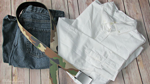 Jeans and a White Button Down styled with Mission Belt