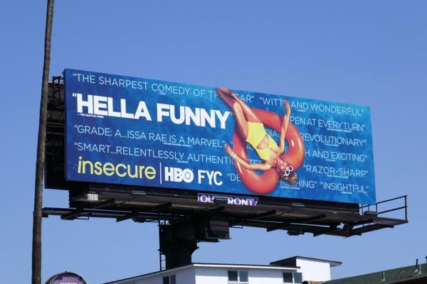 Insecure season 2 Hella Funny Emmy FYC billboard