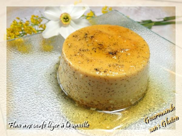 Flan aux oeufs à la vanille et caramel