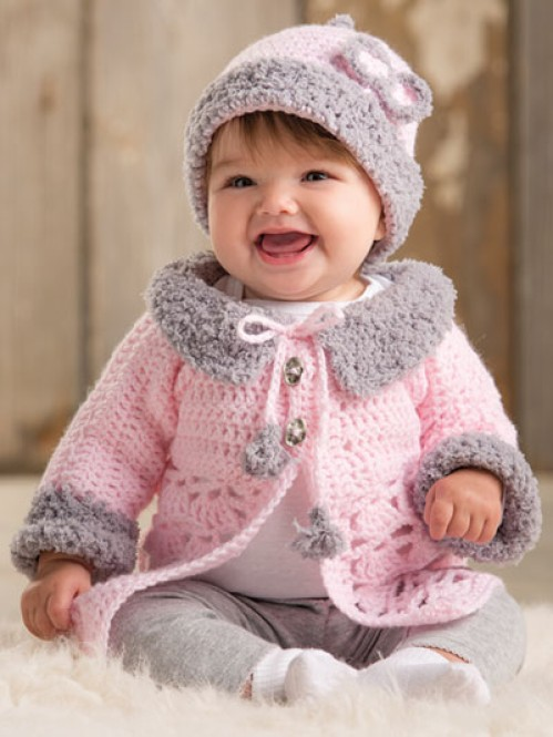 Modern Baby Sweater Set - Crochet Pattern
