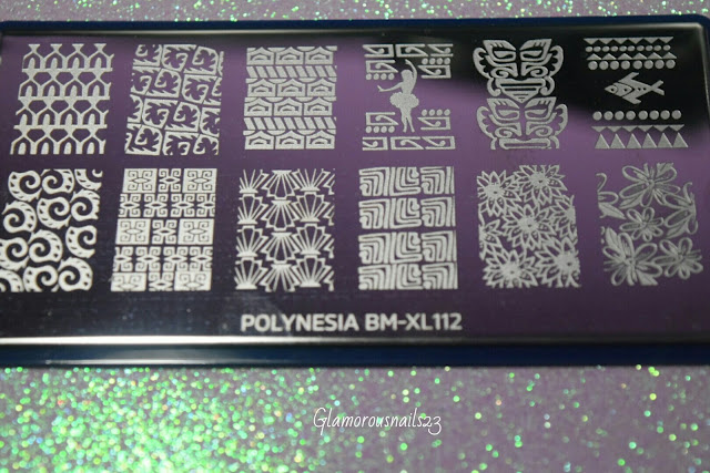 Bundle Monster Tahitian Beauty BM-XL112 Stamping Plate