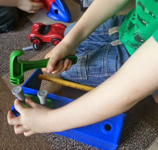 Children demonstrate precision using play tools