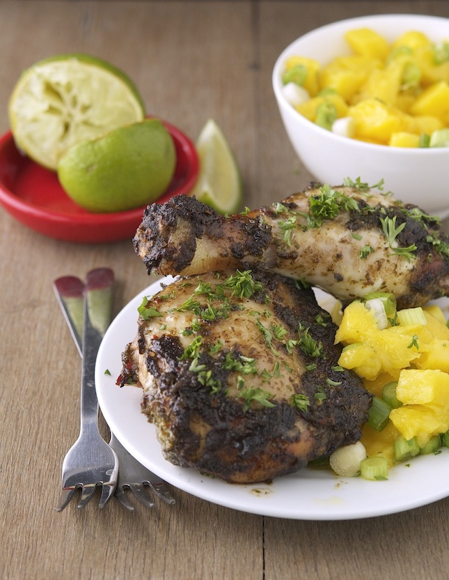 The Iron You: Jamaican Jerk Chicken with Mango Salsa