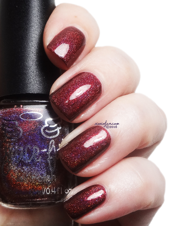 xoxoJen's swatch of Grace-full Marsala Leaves