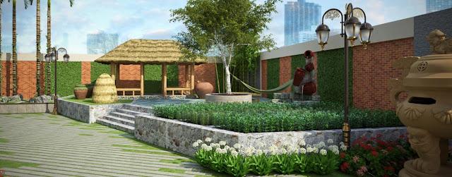 Tiện ích chung cư - vườn hoa