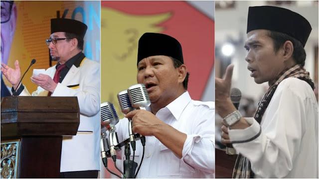 PA 212 Minta Prabowo Pilih Salim atau UAS Sebagai Cawapres