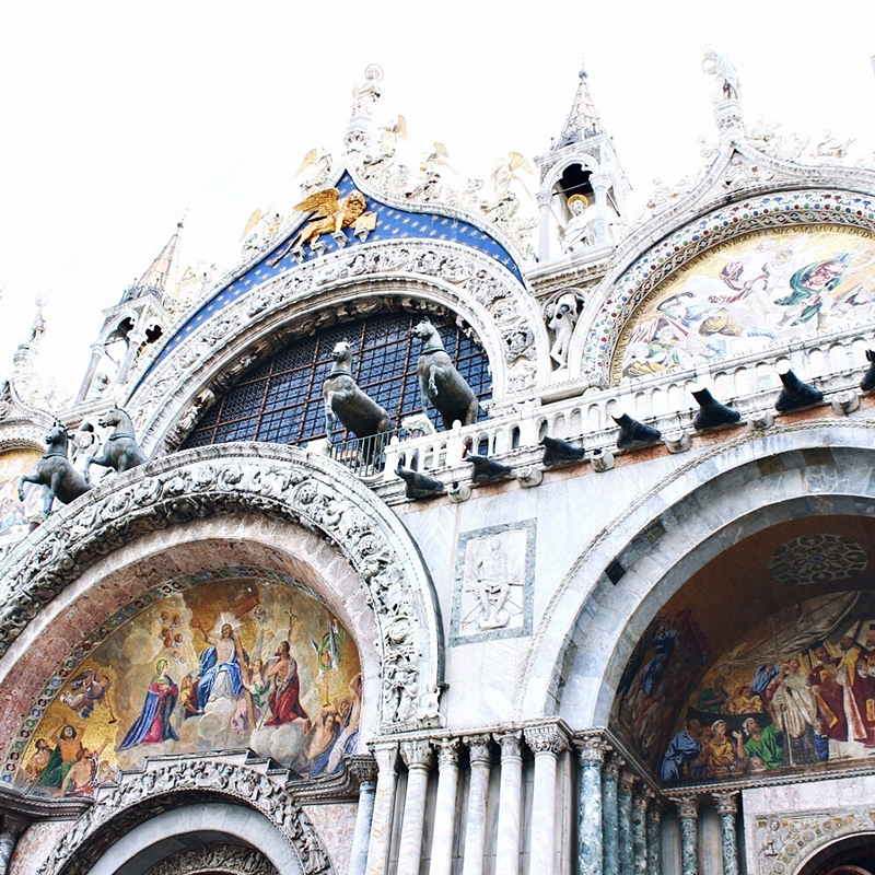 Saint Mark's Basilica in Venice outside.Bazilika Svetog Marka u Veneciji.