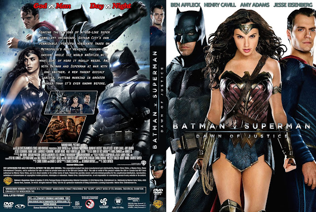 Capa DVD Batman V Superman Dawn Of Justice (Batman V Superman - A Origem Da Justiça)