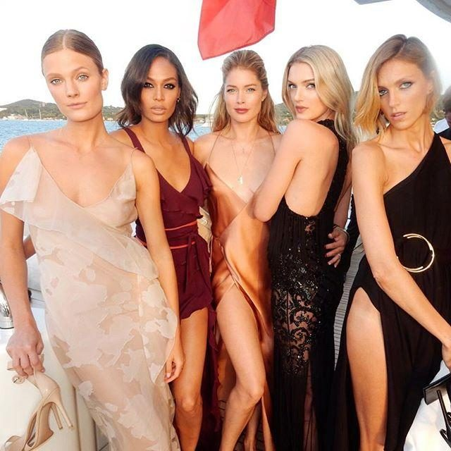 Doutzen, Joan, Anja & More Attend Leonardo DiCaprio's Charity Gala