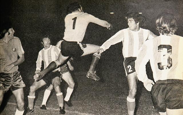 Chile y Argentina en Copa Carlos Dittborn 1974, partido de ida