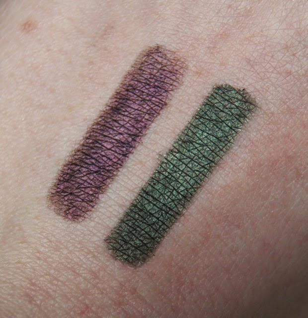 kiko glamorous eye pencils 404 413 swatches