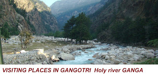 VISITING PLACES IN GANGOTRI