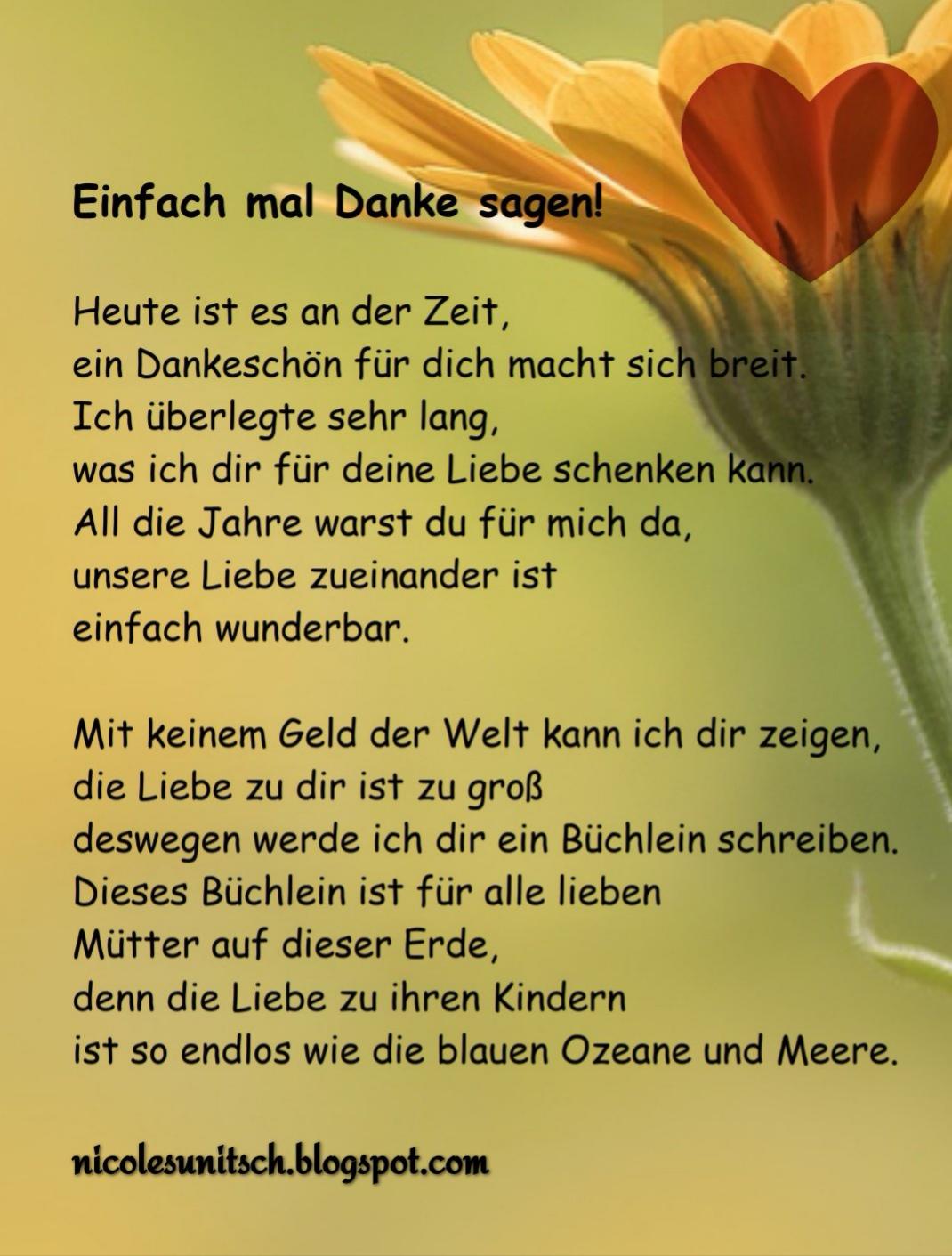 Gedichte Von Nicole Sunitsch Autorin Einfach Mal Danke Sagen
