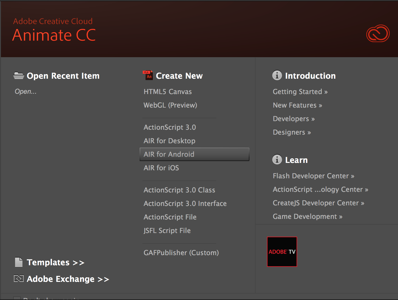 adobe air application installer end with exit code 7