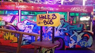 Ghetto Golf indoor minigolf course in Digbeth, Birmingham