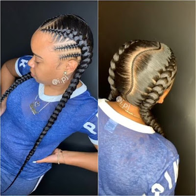 Bored of the same braided hairstyle and need to try something stylish ✘ +20 Two Braids Hairstyles for African Women To Try In Summer Nights