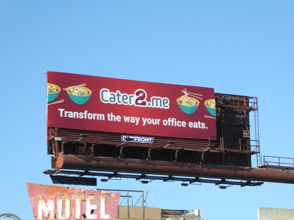 Cater2me office food catering billboard