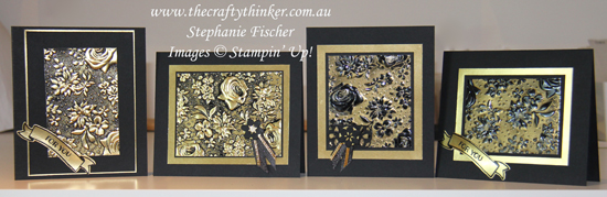 #thecraftythinker #stampinup #cardmaking #embossingtechnique #countryfloral , Country Floral Embossing Folder, Hand Made Card Set, Heat Embossing, Embossing Techniques, Gold Foil, Stampin' Up Australia Demonstrator, Stephanie Fischer, Sydney NSW