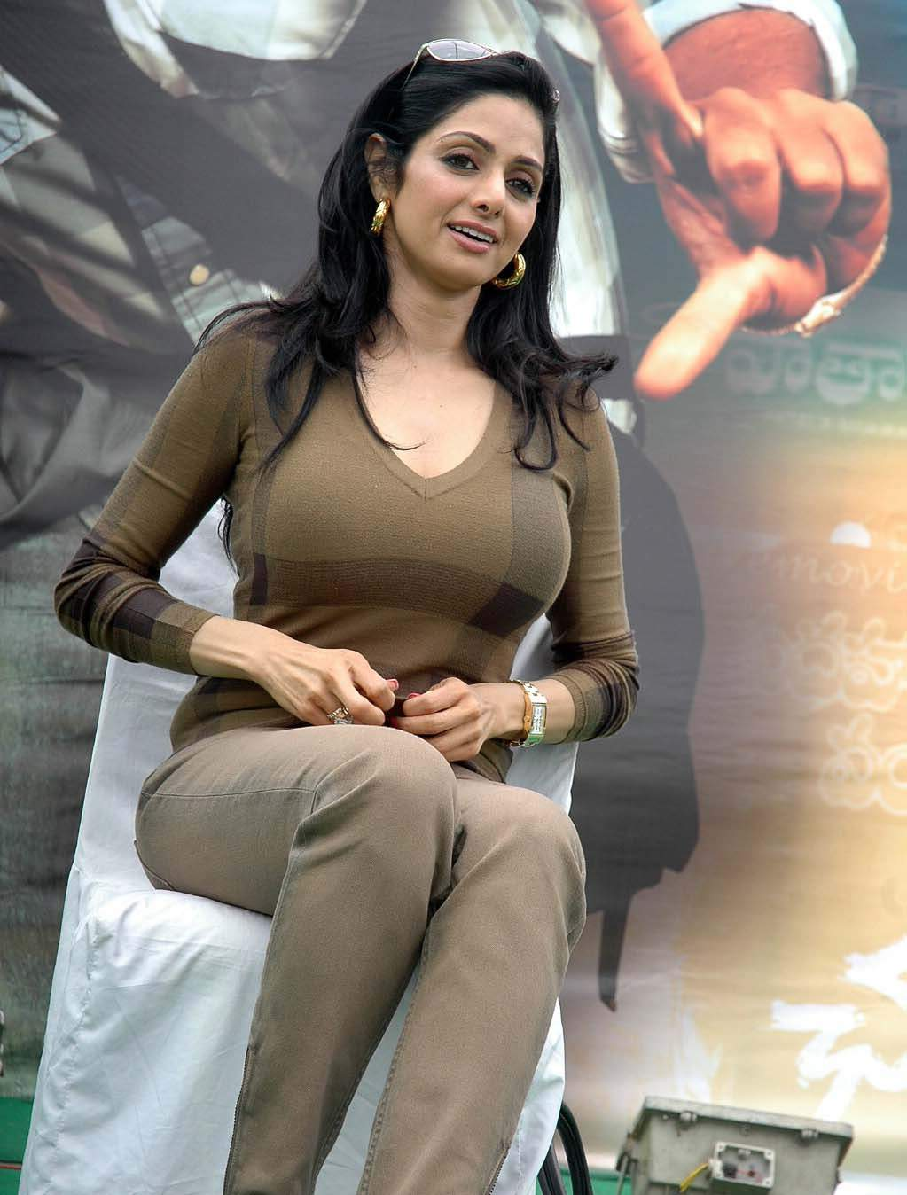Actress Largest Navel,Cleavage,Hip,Waist Photo Collections  Sridevi -6409