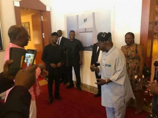 VP Osinbajo, Amaechi Visits Obasanjo