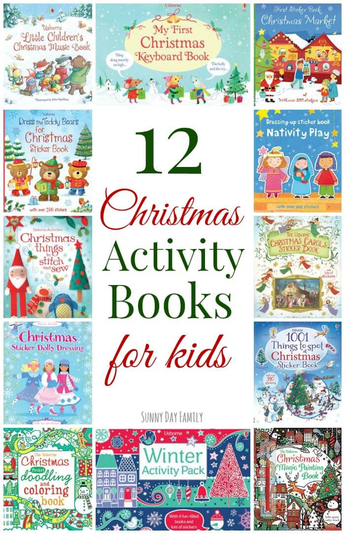These Christmas activity books are the perfect screen free Christmas activities for kids! Coloring, drawing, stickers and music books to keep kids entertained all season long.