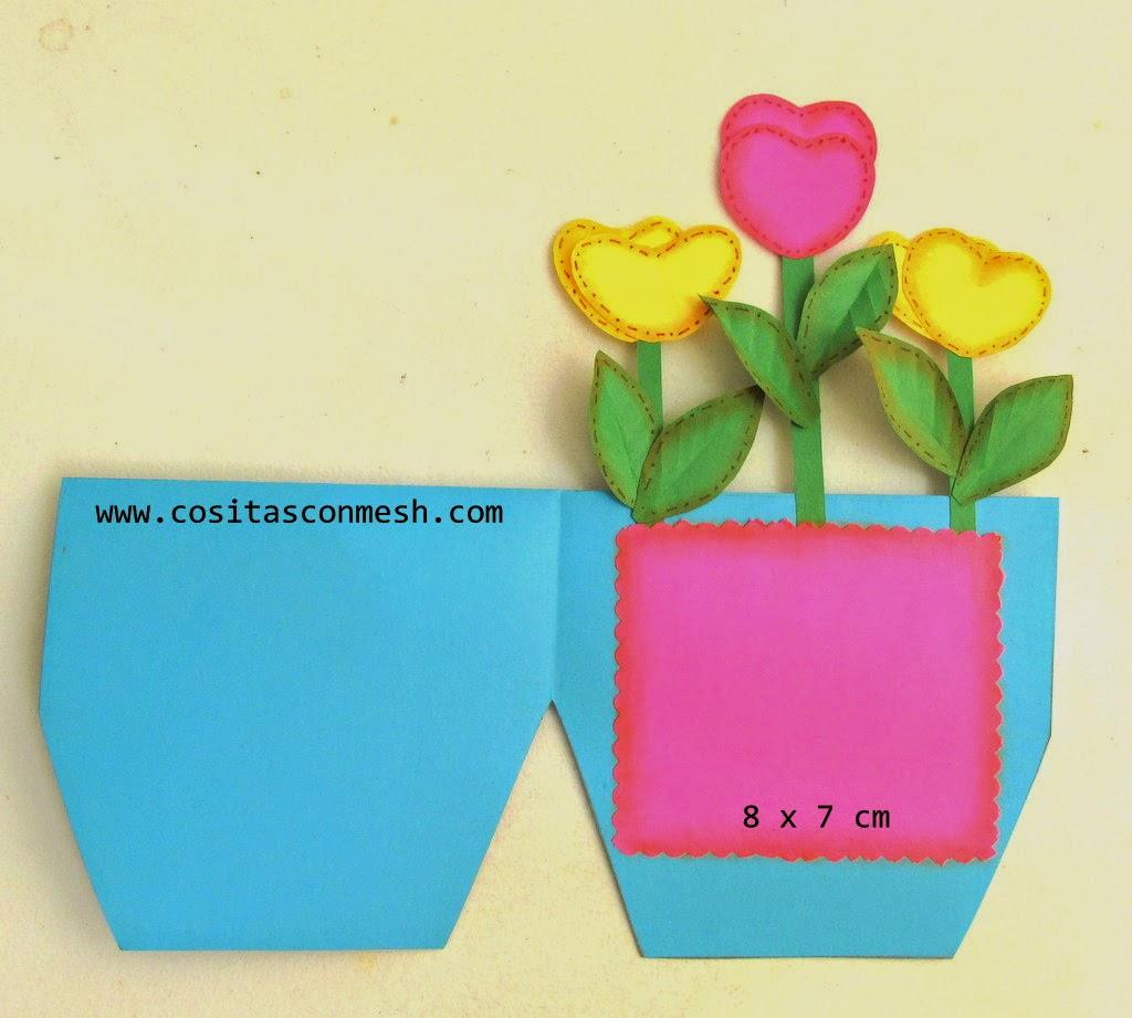 C mo hacer tarjetas para d a de la madre diy cositasconmesh - Como hacer marcos de fotos faciles ...
