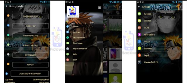 BBM Mod Whatsapp Tema Naruto Apk