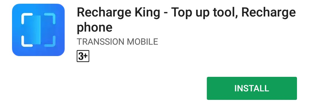 Download the recharge king app from google play store