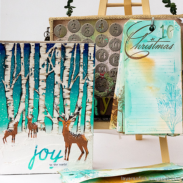Layers of ink - December Countdown Calendar and Daily Journal Tutorial by Anna-Karin Evaldsson.