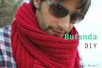 DIY Bufanda de Hombre. Aprender a tejer con tutoriales.