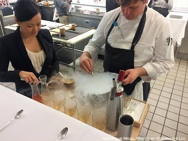 Liquid Nitrogen Cocktail at Eleven Madison Park in New York City