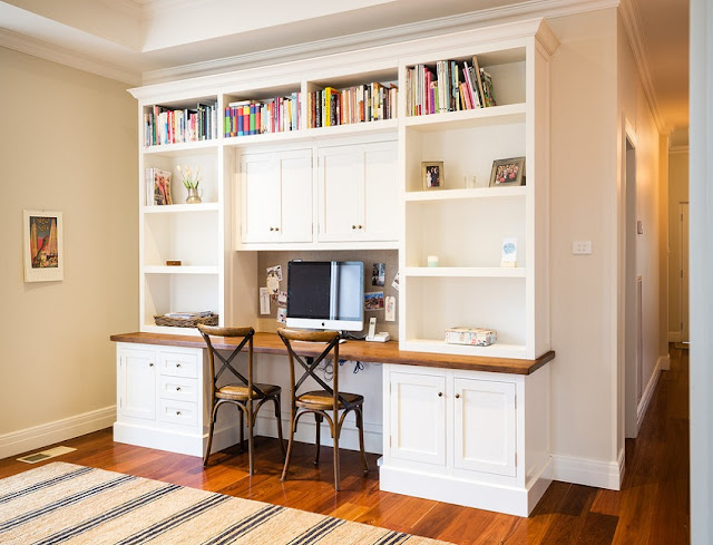 best custom white home office desk in a cupboard design ideas